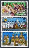 Wallis Et Futuna 1978 Serie N. 221-223 MNH Catalogo € 11,60 - Unused Stamps