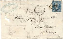 Bas Rhin- La Petite Pierre - Boite Rurale Supplémentaire C/2 Des Verreries De Hochberg - 1849-1876: Classic Period