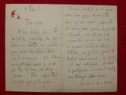 LETTRE AUTOGRAPHE  RODOLPH BRINGER 1913 PALABRE SUR ANATOLE FRANCE - Autographs