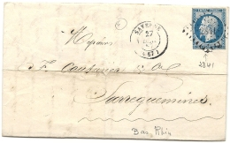 Bas Rhin - Saverne Pour Sarreguemines. - 1849-1876: Classic Period