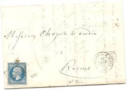 Haut Rhin - St Marie Aux Mines Pour Reims. PC + CàD Type 15. - 1849-1876: Classic Period