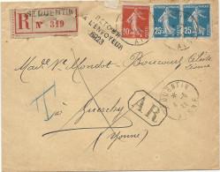Aisne -  St Quentin  -WW1 - Commission Dommages De Guerre. Retour à L'envoyeur 6923 De GUERCHY (Yonne) - 1921-1960: Modern Period