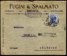 Italy Milano 1917 To Switzerland Delemont / WWI CENSORSHIP - ZENSUR / Verificato Per Censura - 1900-44 Vittorio Emanuele III