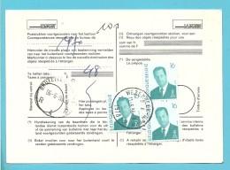 2535 Op Kaart (type)965 Voor TAXE DE REEXPEDITION Met Stempel WEZEMBEEK-OPPEM Van Postkantoor BRUSSEL - 1993-.. MVTM