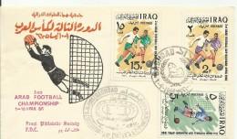 IRAQ 1966,3rd ARAB FOOTBALL CHAMPIONSHIP SET FDC - Iraq