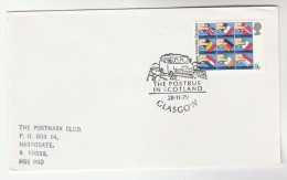 1979  GB EVENT COVER Pmk GLASGOW POSTBUS  Post Bus Stamps - Busses