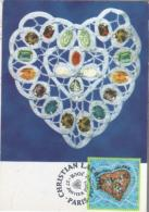 PARIS  Coeur De Christian Lacroix  27/01/01 - Cartes-Maximum