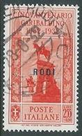 1932 EGEO RODI USATO GARIBALDI 2,55 LIRE - U26-7 - Egeo (Rodi)