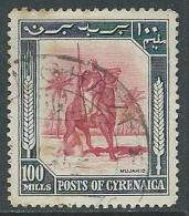 1950 CIRENAICA USATO CAVALIERE 100 M - U26-2 - Cirenaica