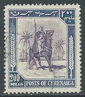 1950 CIRENAICA USATO CAVALIERE 200 M - U26-2 - Cirenaica