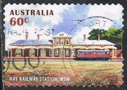 Australia 2013 Railway Stations 60c Type 3 Self Adhesive Good/fine Used - 2010-... Elizabeth II