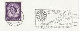1960s GB Stamps COVER SLOGAN Illus BALLOON , IPSWICH FUNTASIA Ballooing - Transport