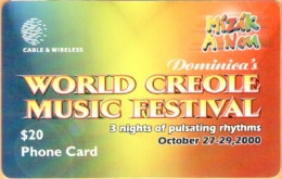 Dominica - DOM-10c, C&W, Dominica's World Creole Music Festival, 20 EC$, Used As Scan - Dominica