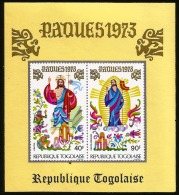 B)1973 TOGO, ASCENSION-CHRIST IN GLORY, RELIGION, FAITH, EASTER. SOUVENIR SHEETS, MNH - Togo (1960-...)