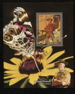 BUTTERFLIES,SCOUT On SOUVENIR SHEET STAMP,CTO USED - Schmetterlinge