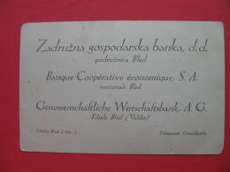 Zadruzna Banka,d.d.podruznica Bled. - Slowenien