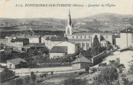 Pontcharra-sur-Turdine (Rhône) - Quartier De L´Eglise - Carte S.F. N°3112 - Pontcharra-sur-Turdine