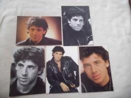 LOT DE 5 CARTES ..CHANTEUR..ACTEUR...PATRICK BRUEL - 5 - 99 Postcards
