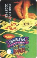 Treasure Chest Casino Kenner, LA - Slot Card - 4 Lines In Reverse Paragraph - Casino Cards