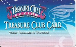 Treasure Chest Casino Kenner, LA - Slot Card (BLANK) - Casino Cards