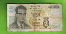 20 Frank, Koninkrijk België, 15.06.64 Goede Staat - [ 2] 1831-... : Belgian Kingdom