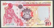 LESOTHO:  10 Maloti - 2007  - UNC - Lesoto
