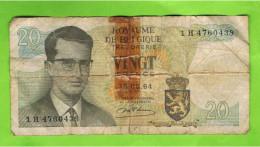 20 Frank, Koninkrijk België, 15.06.64 , Met Plakband - [ 2] 1831-... : Koninkrijk België