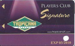 Tropicana Express Casino Laughlin NV - BLANK Slot Card With 03/2010 Expiration Date - Casino Cards