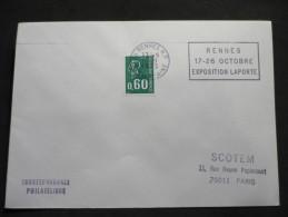 24 Flammes De Rennes Département De L'Ille Et Vilaine  24 Enveloppes - Postmark Collection (Covers)