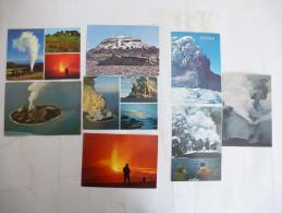 ISLANDE : VOLCANS LOT De 8 CPM Voir Les Scans Recto Et Verso. - Disasters
