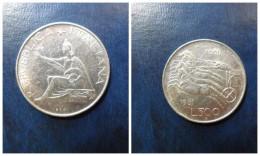 ITALIA  500  Liras Plata   1961      1º CENTENARIO  UNIFICACIÓN  BC - 500 Liras
