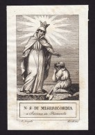 Santini - Image Pieuse - Gravure - ´800 - SAVONA - MADONNA DELLA MISERICORDIA - Devotion Images