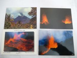FRANCE GUADELOUPE Et REUNION : VOLCANS LOT De 4 CPM Voir Les Scans Recto Et Verso. - Disasters
