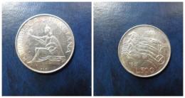 ITALIA  500  Liras Plata   1961      1º CENTENARIO  UNIFICACIÓN  BC - 1946-… : República