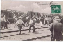 Cpa  SAUJON CATASTOPHE DE 14 AOUT 1910 COMMENCEMENT DU DEBLAIEMENT - La Rochelle
