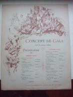 Programme CONCERT DE GALA - 13 OCTOBRE 1884- Concert Honorifique à WATEAU- Piano D'accompagnement Tenu Par Mr Léon COPIN - Accessoires, Pochettes & Cartons