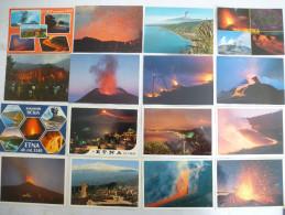 ITALIE SICILE : VOLCAN ETNA  LOT De 36 CPM - Voir Les Scans Recto Et Verso. - Disasters