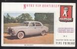 Buvard Vins Primior Voiture Automobile 403 Peugeot