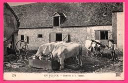 En Beauce - Rentrée à La Ferme - Machine Agriciole - Paysan - Bœufs - Animée - ND PHOT. - NEURDEIN FRERES - France
