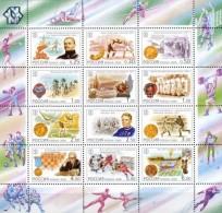 Russia 2000 XX Century National Sporting Milestones Olympic Games Soccer Boxing Chess Hockey Summit Series Athletics MNH