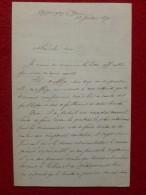 LETTRE AUTOGRAPHE ARMAND LAPOINTE 1870 AH LES JOLIS FAISEURS DE THEORIE !!!!! - Autographs