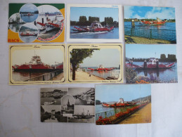 DUCLAIR (76) LE BAC Sur La SEINE Voitures Et Passagers LOT De 8 CPM Voir Les Scans Recto Et Verso. - Ships
