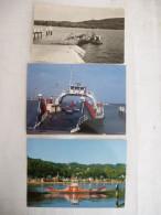 LES BAC De La VALLEE De La SEINE (76) SAHURS, QUILLEBEUF Et LA BOUILLE LOT De 3 CPM Voir Les Scans Recto Et Verso. - Ships