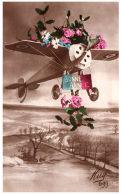 AVIATION -- Carte Fantaisie - Bonne Année - Flugzeuge