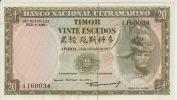 Timor 20 Escudos 1967 Pick 26 UNC - Timor