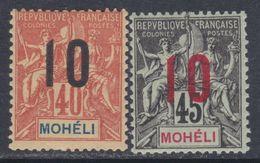 Mohéli N° 21 X Type Groupe Surchargé:  10 Sur 45 C. Trace Charnière Sinon TB