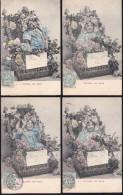 CPA - (06) Nice - Fleurs De Nice - La Série De 6 Cartes - Sets And Collections