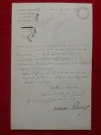 LETTRE AUTOGRAPHE OCTAVE LACROIX REDACTEUR AU MONITEUR DEMANDE LOGE AU VAUDEVILLE 1867 - Autographes