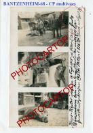 BANTZENHEIM-SANGLIER-CHASSE-CARTE PHOTO Allemande Multivues-Guerre-14-18-1WK-FRANCE-68-FRANKREICH-Feldpost- - France
