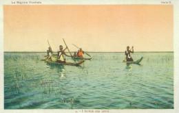 SCILLUK FISHING CENTRAL AFRICA REPUBLIC 1928 VINTAGE POSTCARD - Central African Republic